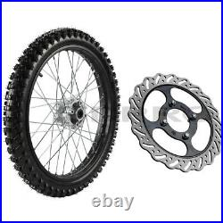 1.6x19 Front Wheel 70/100-19 Tire Rim + Disc Rotor for Dirt Pit Bike CRF KLX RM