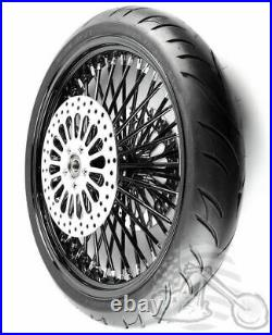 21 3.5 48 Spoke Front Wheel Black Tire Package 08+ Harley Touring Dual Disc BW