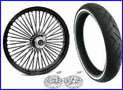 23 3.5 Fat Front Wheel Black Tire WW Package 08-20 Harley ABS Dual Disc Touring