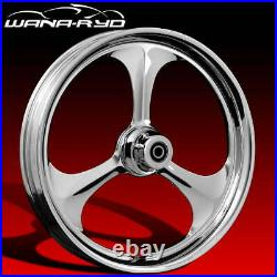 Amp Chrome 26 Front & Rear Wheels, Tires Package Single Disk 09-19 Bagger