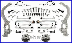 Control Arm Set Reinforced + Steering Wheel Bearing Front for Audi A4 B7 Caha