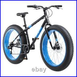 Fat Tire Bicycle Adult Mens Bike 7 Speed 26 Inch Wheels Dual Disc Brakes Riding