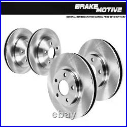For 2014 2015 2016 2017 2018 2019 Fiat 500L Front and Rear Brake Disc Rotors