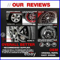 Front And Rear OE Brake Rotors & Low Dust Ceramic Pads For Chevy Pontiac