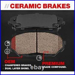 Front And Rear OE Disc Brake Rotors +Ceramic Pads For 2010 2011 Kia Soul