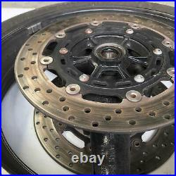 Front wheel rim with tyre & disc Yamaha R1 YZFR1 2002