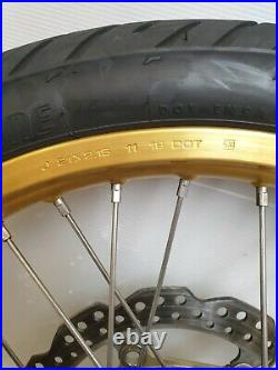 Genuine Honda Africa Twin CRF 1000 2019 Gold Front Wheel And Tyre Brake Discs