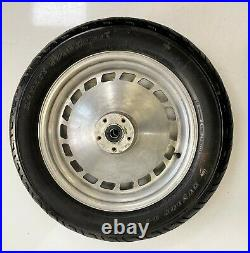 Harley Davidson 16 Inch Front Wheel And Tyre 3/4 Axle Twin Disc Fixings Freepost