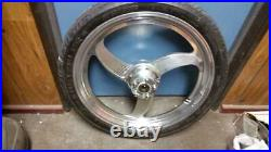Harley Fxr 21'' Mag Front Wheel And 21'' Tire Fit Wide Glide Single Disc