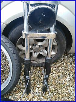Harley Ironhead sportster front end forks yokes wheel, mudguard, new tyre new disc