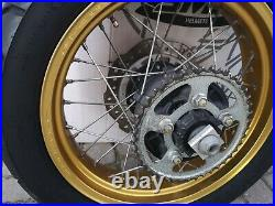 Honda Africa Twin Gold Wheels, Tyre, Discs, sprocket and rear spindle COMPLETE