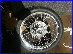 Honda Cm250 Rebel Front Spoked Wheel With Disc And Tyre 90 90 18