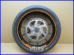 KTM 125 Duke 2017 17,661 miles front wheel with tyre and brake disc (5226)