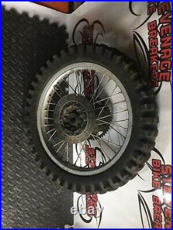 Kawasaki Kmx 21 N 18 Front N Back Wheels Complete With Tyre Disc Pair