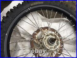 Ktm 500 Front Wheel Poss Fit 250 300 Black With Disc Tyre Complete Spindle