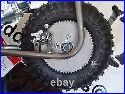 Mini Bike 2 PIECE Wheel Kit with disc brake SPROCKET 410 350 5 TIRES lever cable