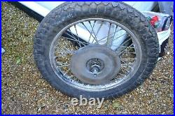 Norton Commando disc brake front wheel complete with Goodyear tyre