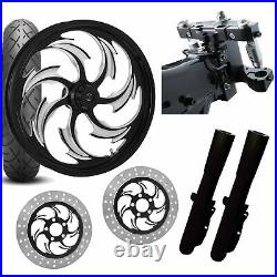 RC 26 Assault Eclipse Wheel Tire Neck Rake Front End Package Harley Dual Disc