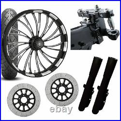 RC 26 Axxis Eclipse Wheel Tire Neck Rake Front End Package Harley Dual Disc