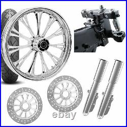 RC 26 Imperial Chrome Wheel Tire Neck Rake Front End Package Harley Dual Disc