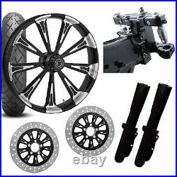 RC 26 Raider Eclipse Wheel Tire Neck Rake Front End Package Harley Dual Disc