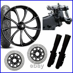 RC 26 Revolt Eclipse Wheel Tire Neck Rake Front End Package Harley Dual Disc