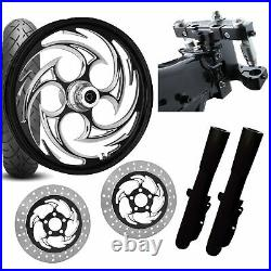 RC 26 Savage Eclipse Wheel Tire Neck Rake Front End Package Harley Dual Disc