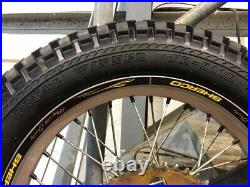 Sherco 125 Graham Jarvis Trials Complete Rear Wheel And Tyre With Sprocket Disc