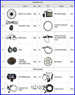 Waterproof MTB electric bicycle kit 500W 36V Ebike conversion kit with tire disc