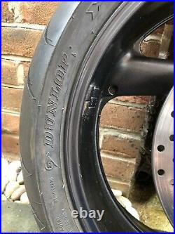 Yamaha XJR1300 2002 Rear Wheel with Brake Disk and new (150 miles) Dunlop Tyre