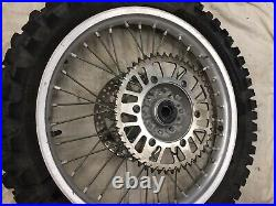 Yamaha Yz 125 2001 Rear Wheel With Tyre Disc Sprocket Complete