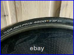 Zipp super 9 disc wheel complete with cassette and tyre (clincher)